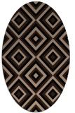 rug #662229   oval beige retro rug