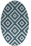 rug #662241 | oval white retro rug