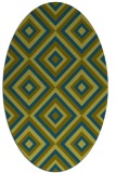 rug #662277 | oval blue-green rug