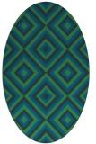 rug #662297 | oval blue geometry rug
