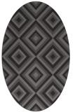 rug #662365 | oval retro rug