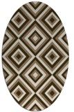 rug #662369   oval mid-brown retro rug