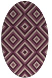 rug #662373   oval pink rug
