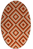 rug #662413 | oval orange retro rug