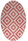 rug #662437 | oval white geometry rug