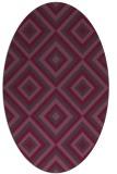 rug #662441   oval purple retro rug