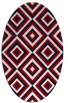 rug #662457 | oval red retro rug
