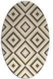 rug #662509 | oval yellow retro rug