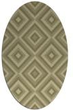 rug #662541 | oval light-green rug