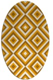 rug #662553 | oval light-orange retro rug