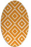 rug #662561 | oval light-orange retro rug