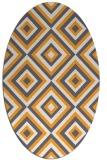 rug #662565   oval light-orange retro rug