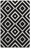 rug #662573    black retro rug