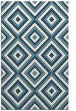 rug #662593 |  blue-green retro rug