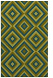 rug #662629 |  blue-green retro rug