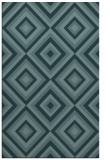 rug #662641 |  blue-green retro rug