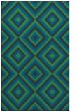 rug #662649 |  blue-green retro rug