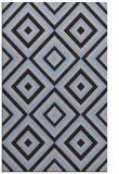 rug #662681 |  blue-violet geometry rug
