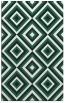 rug #662701 |  blue-green retro rug