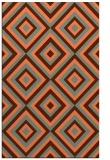 rug #662769 |  red-orange geometry rug