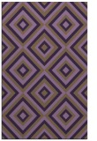 rug #662801 |  purple retro rug