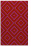 rug #662821 |  red geometry rug