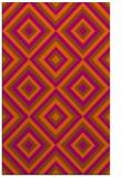rug #662833 |  red-orange retro rug