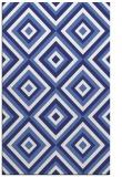 rug #662849 |  blue retro rug