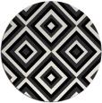 rug #662925 | round black retro rug