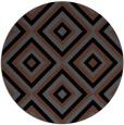 rug #662929 | round black retro rug