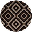 rug #662933 | round beige retro rug