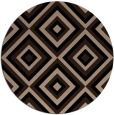 rug #662933 | round black retro rug