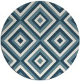 rug #662945 | round blue-green geometry rug