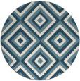 rug #662945 | round white geometry rug