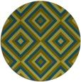 rug #662981 | round green rug