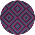 rug #662985 | round pink rug
