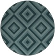 rug #662993 | round blue-green geometry rug