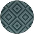 rug #662993 | round blue-green retro rug