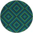 rug #663001 | round blue retro rug