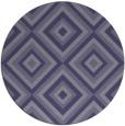 rug #663009   round blue-violet retro rug