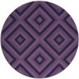 rug #663017 | round purple retro rug