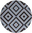 rug #663033 | round blue-violet retro rug