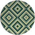 rug #663125 | round yellow retro rug