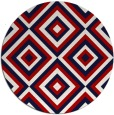 rug #663161 | round red rug