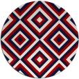 rug #663161 | round red retro rug