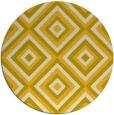 rug #663209   round yellow rug
