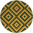 rug #663225 | round yellow retro rug