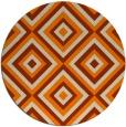 rug #663237 | round orange geometry rug