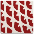 rug #663873   square red abstract rug