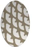 rug #663977 | oval white abstract rug